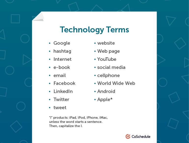 How to Write Technology Terms in AP Style