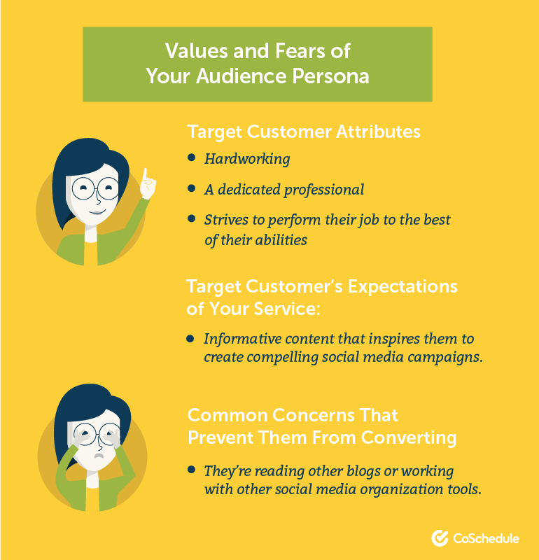Values and Fears of Your Audience Persona