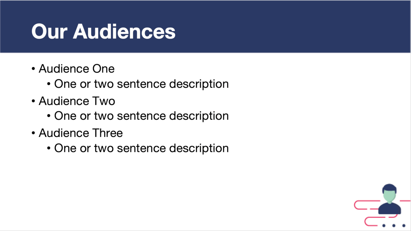 Audience Template Slide Example