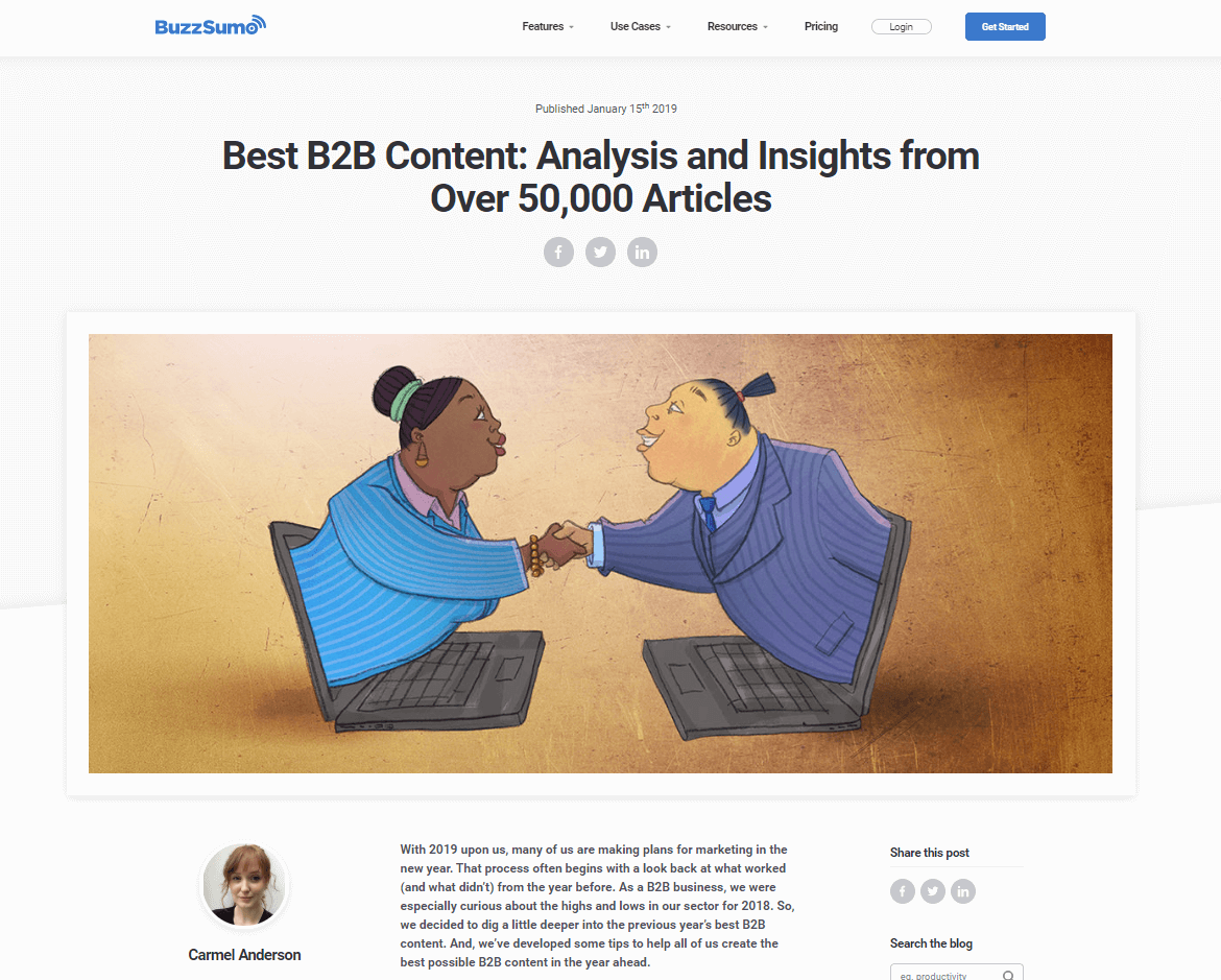 Best B2B Content: Analysis and Insights from Over 50,000 Articles