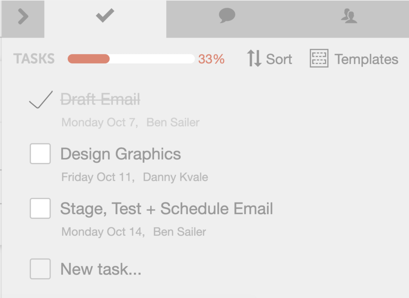 Track your completion percentage in CoSchedule
