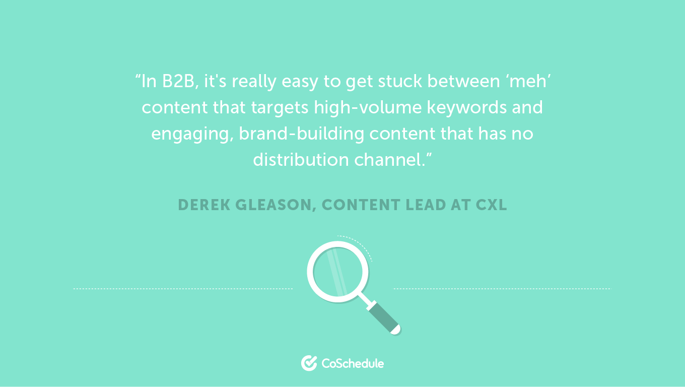 Quote about B2B content marketing