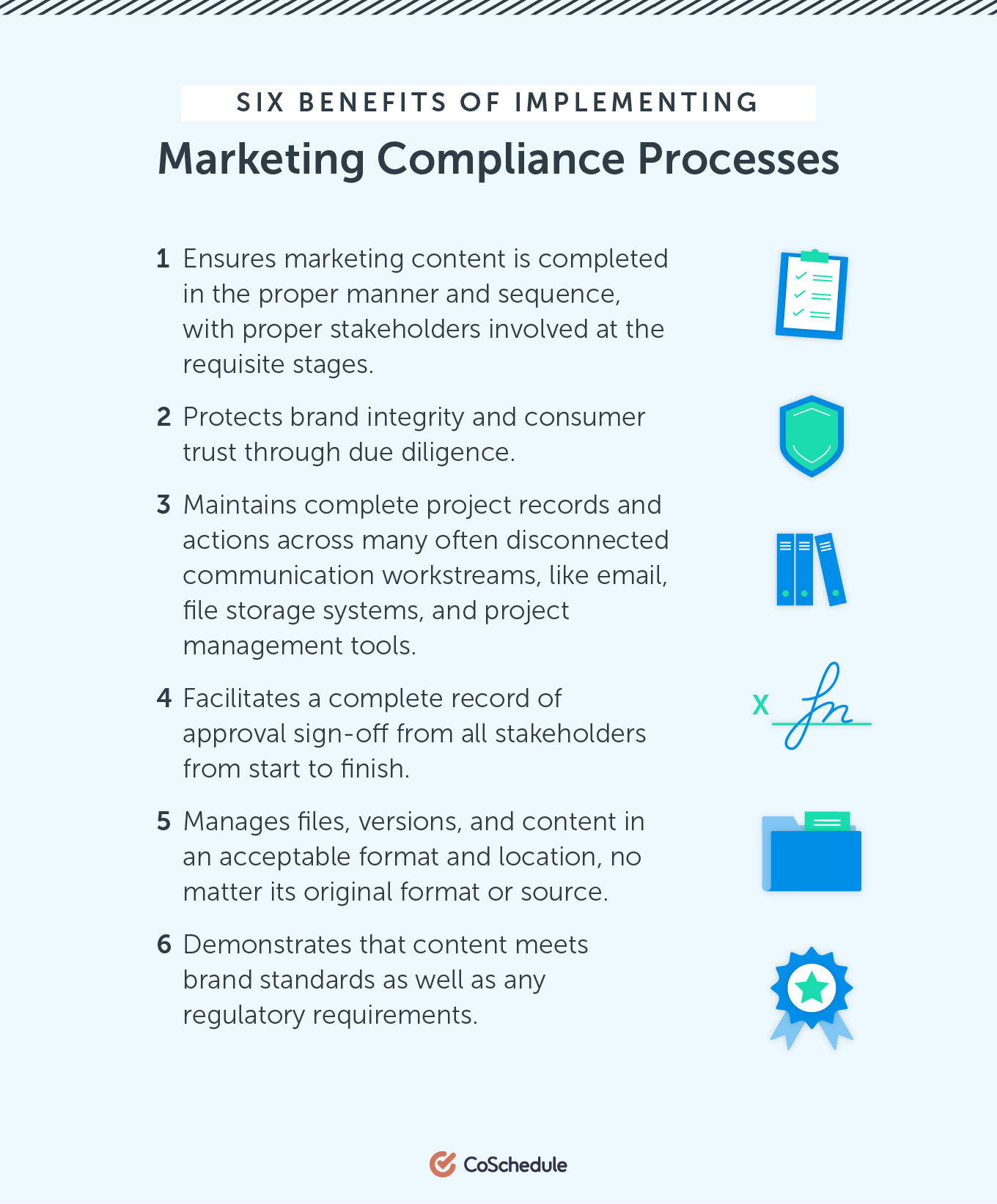 Six Benefits of Implementing Marketing Compliance Processes