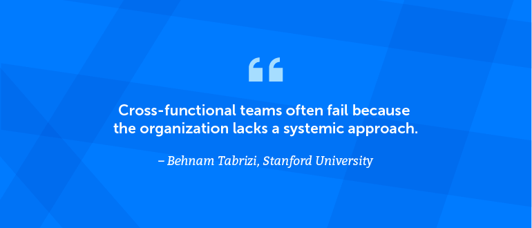Cross-functional teams often fail because the organization lacks a systemic approach.