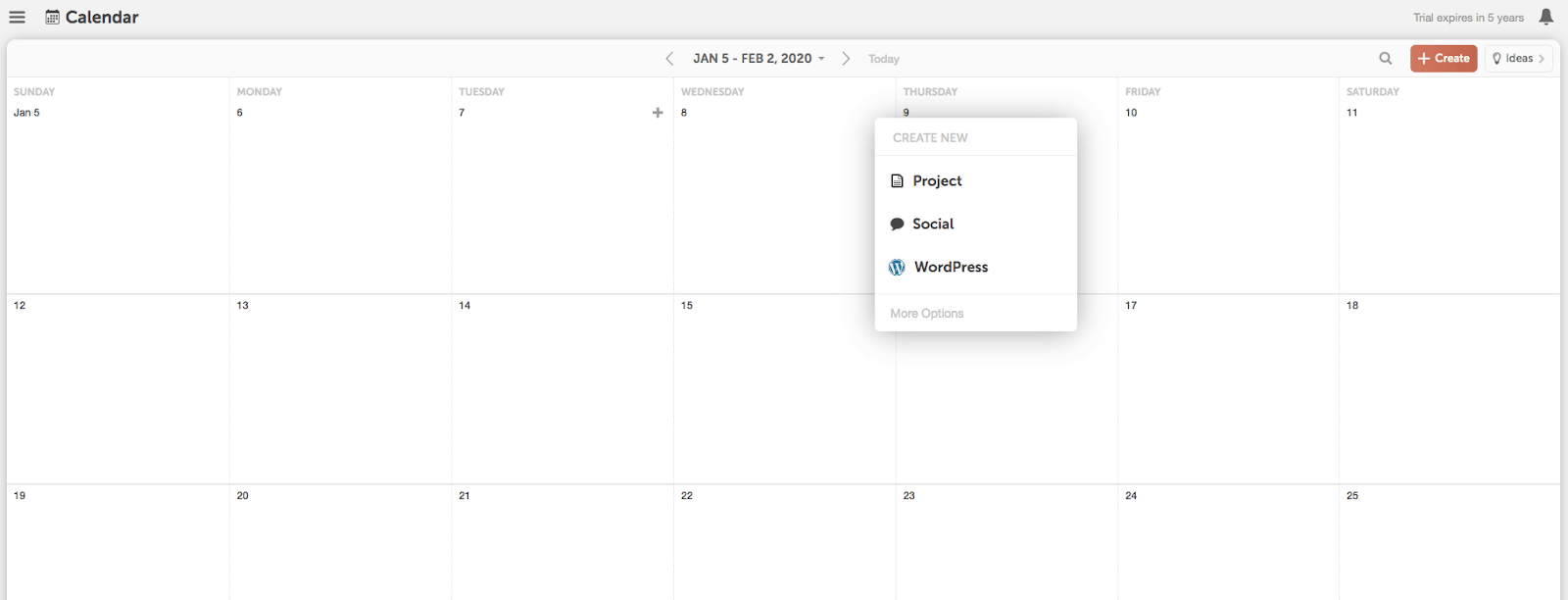 Add a project on your CoSchedule Calendar.