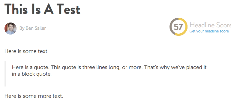 How block quotes appear on the CoSchedule blog
