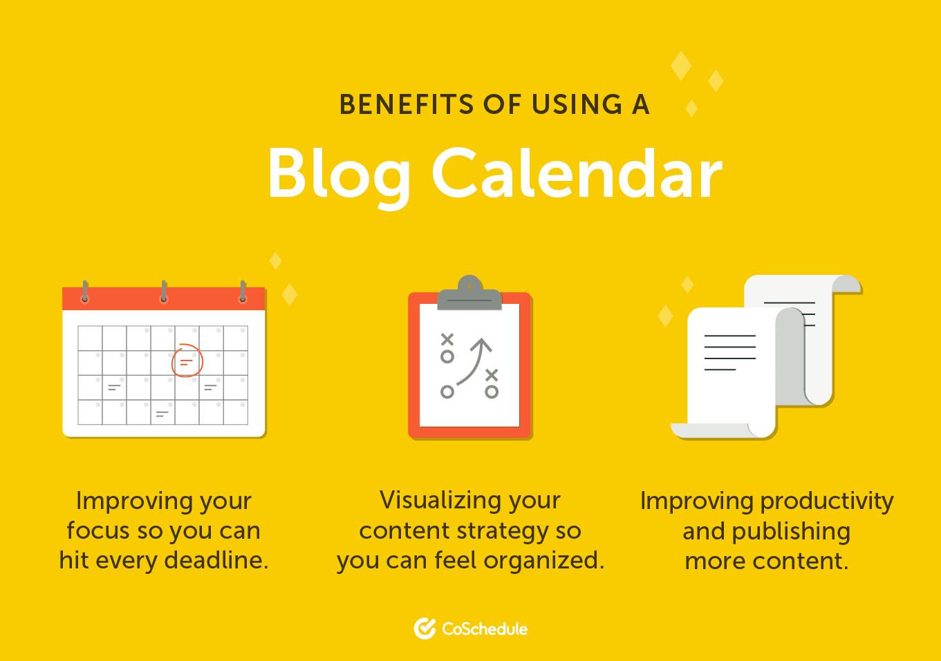 Benefits of Using a Blog Calendar