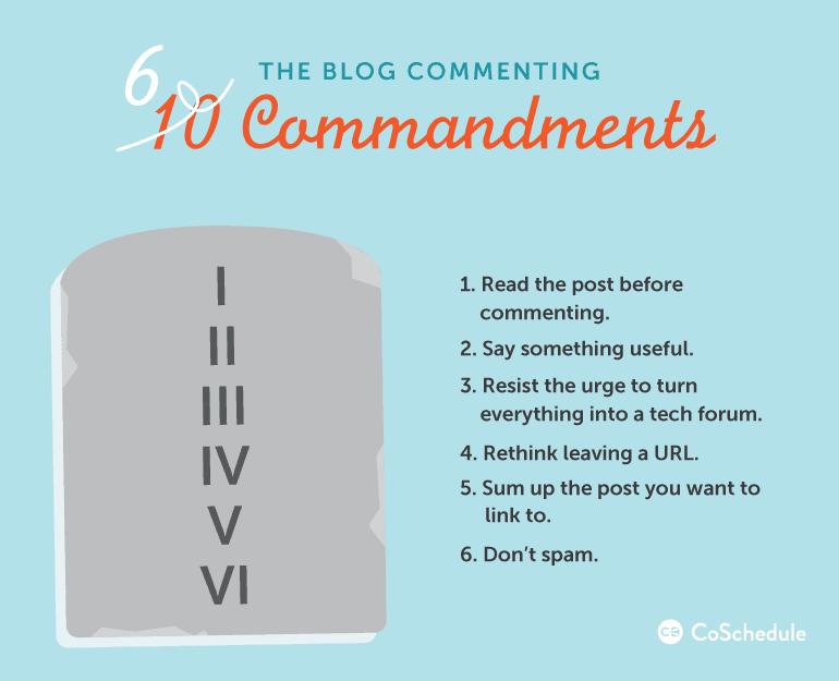 blog comment commandments
