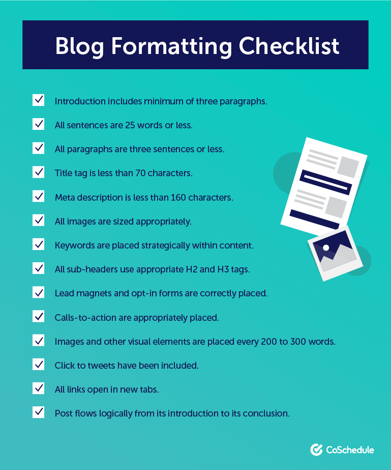 Blog Formatting Checklist