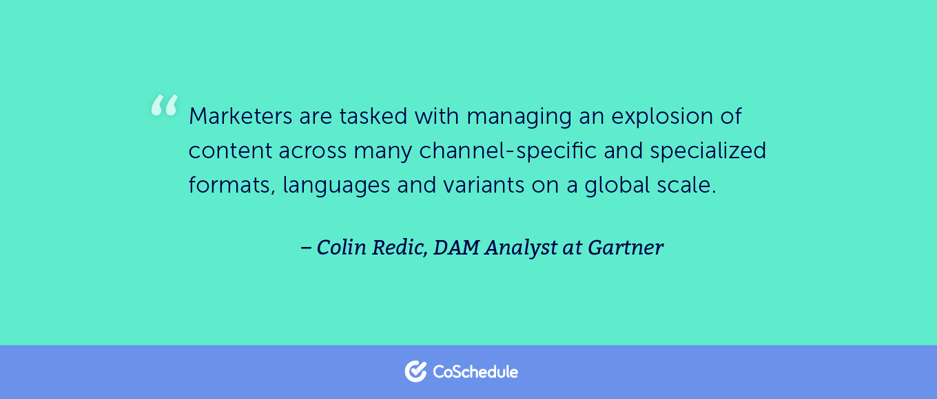 quote from Colin Redic about marketing management