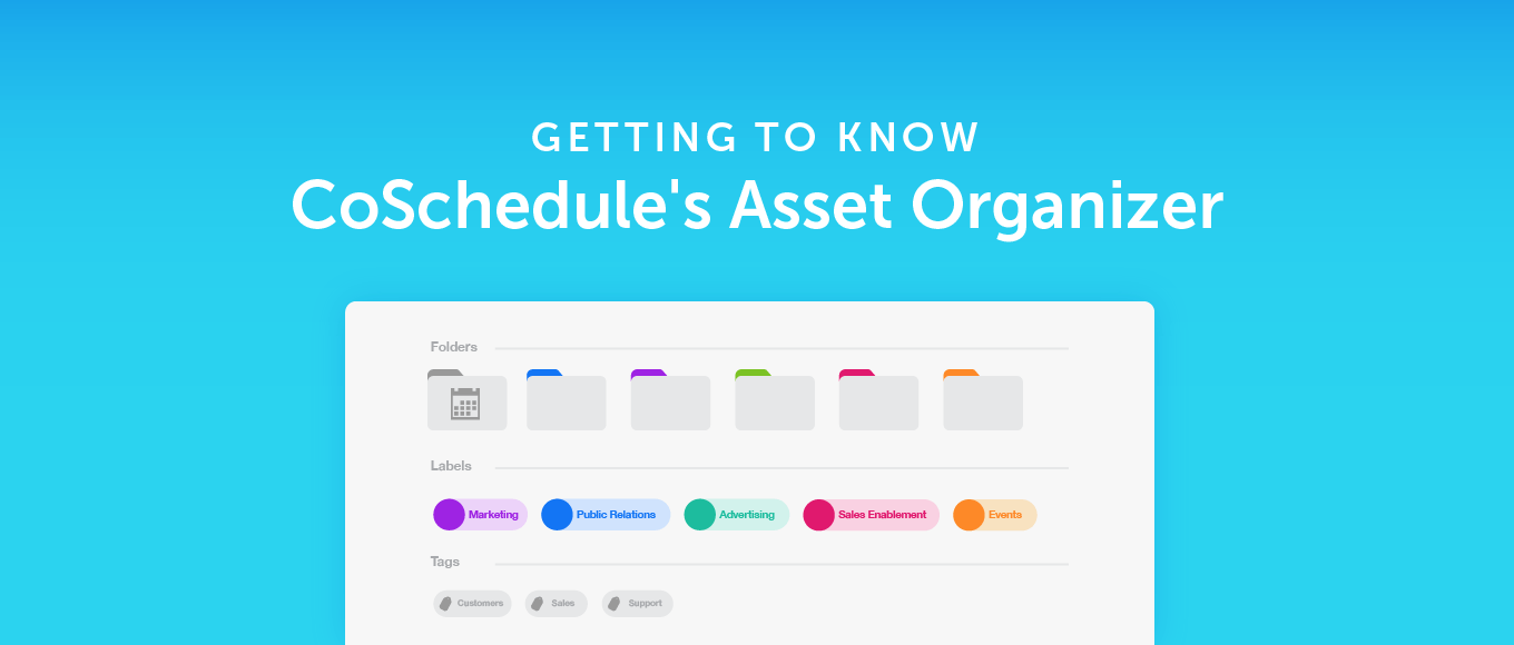 Getting To Know CoSchedule's Asset Organizer