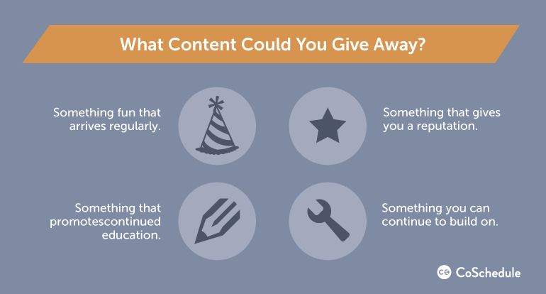 blog giveaways content ideas