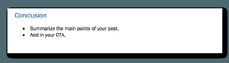 Blog Post Conclusion