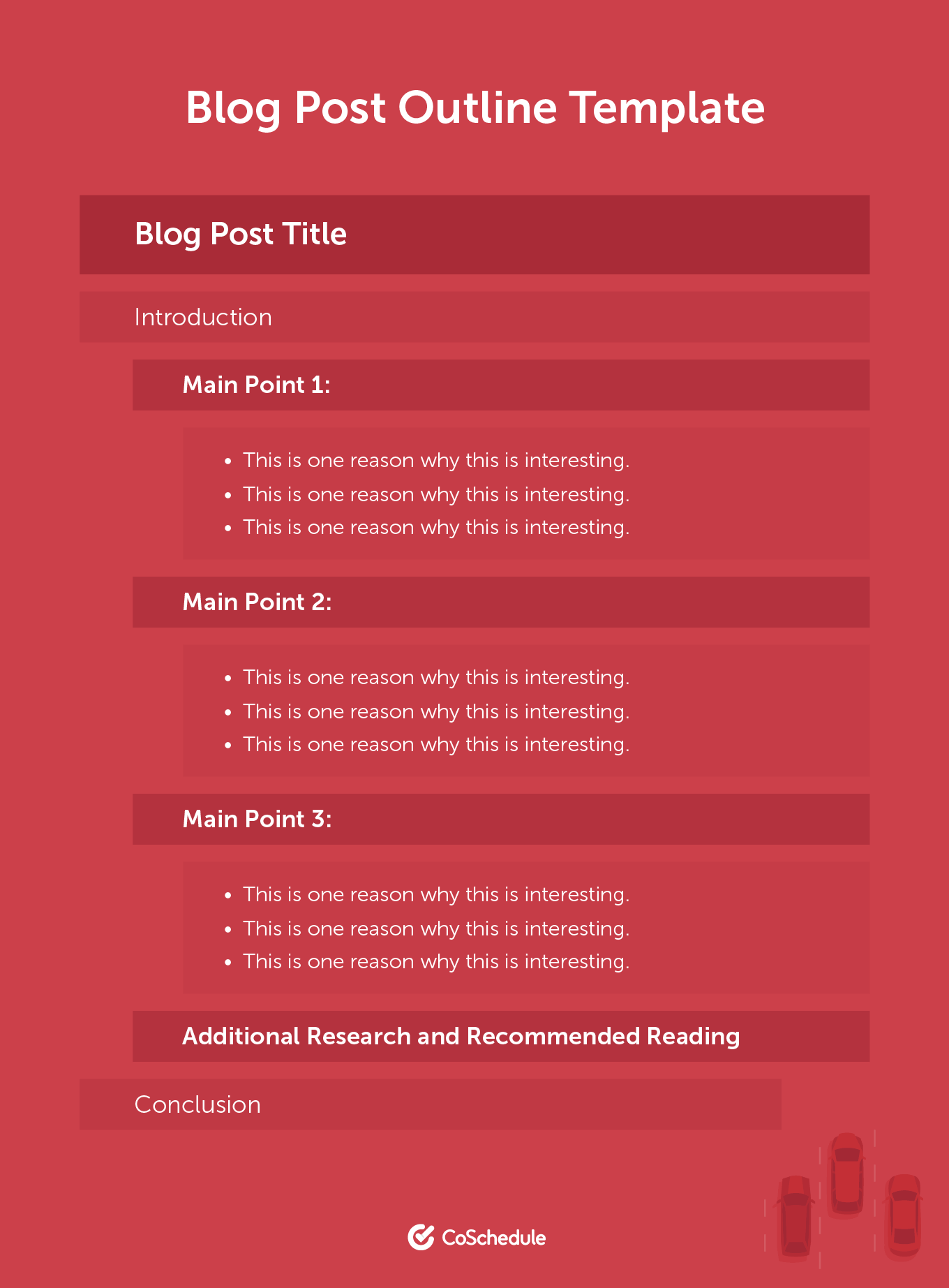Example of a Blog Post Outline Template