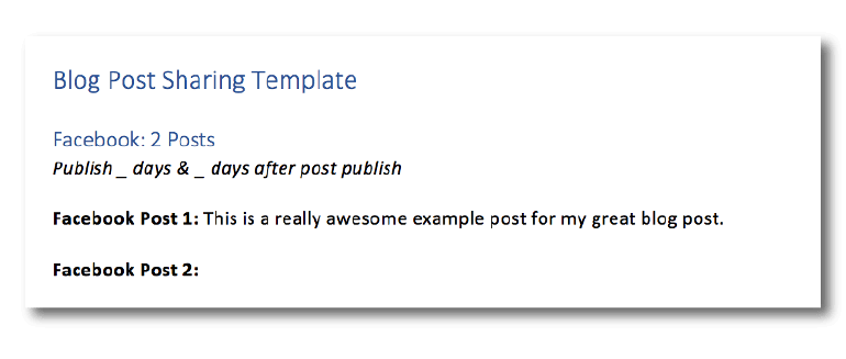 Blog post sharing template
