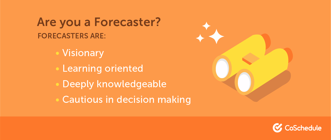 A list of traits that make up a forecaster