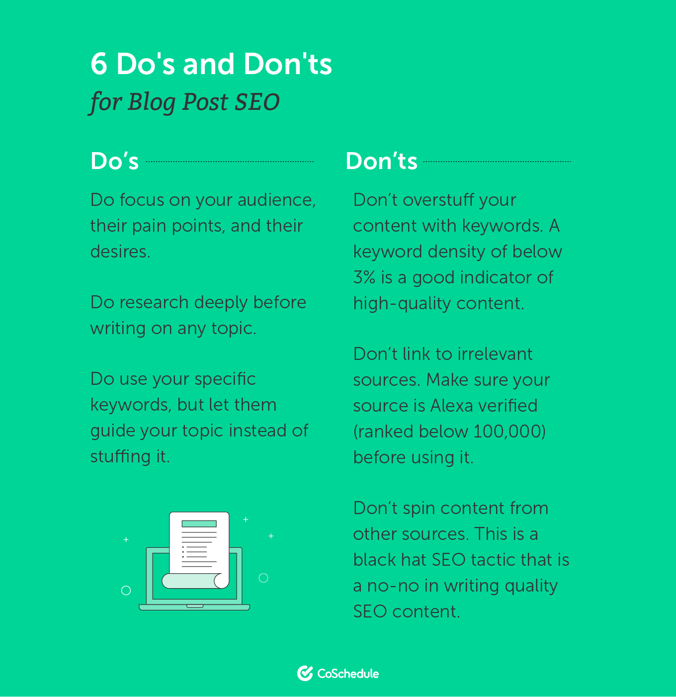 6 Do's and Don'ts for Blog Post SEO