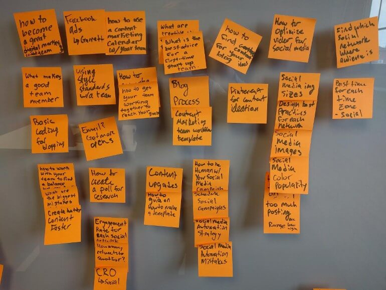 Blog Topic Ideation Board
