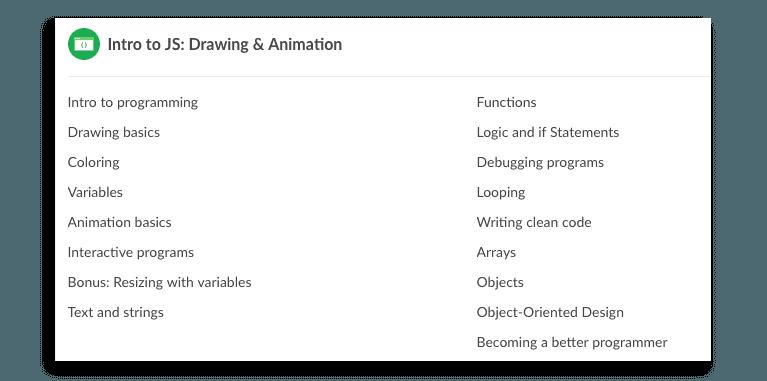 Khan Academy computer programming lessons.