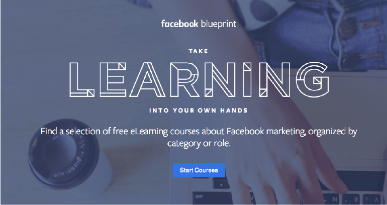 Start a course through Blueprint by Facebook.