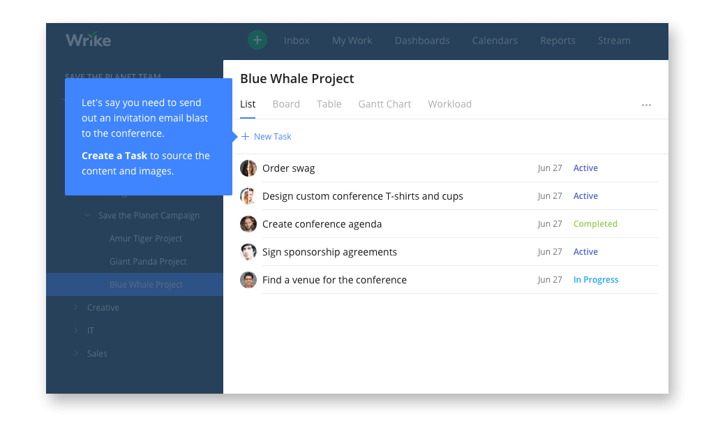 Wrike Marketing Project Management Tool
