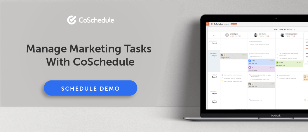 Manage marketing tasks with CoSchedule