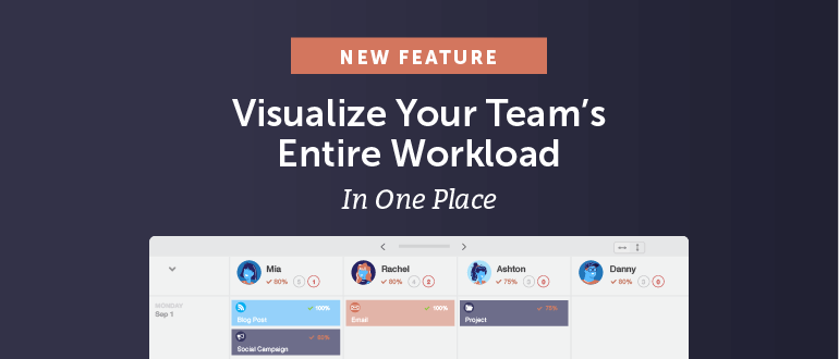 NEW: Visualize your team's entire workload in one place