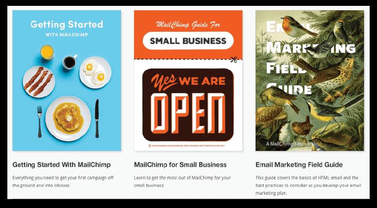MailChimp resource page.