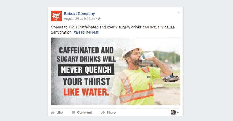 Facebook post from Bobcat Company