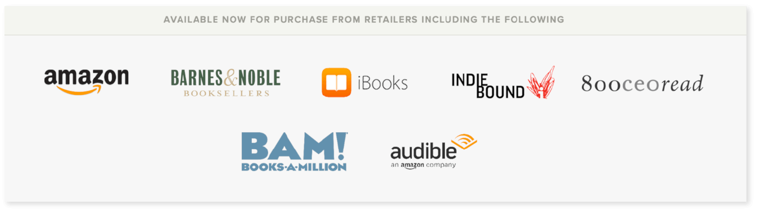 Example of a PR partnership in a book promo campaign