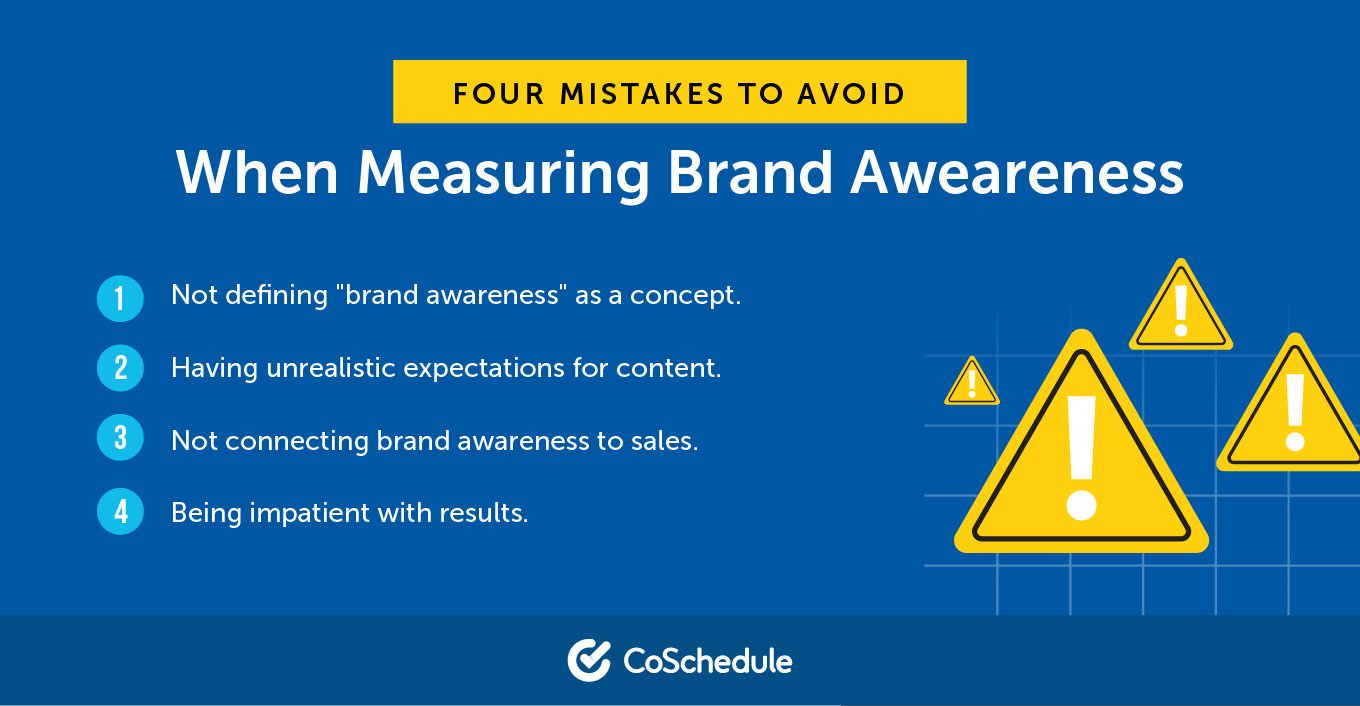 Four Mistakes to Avoid When Measuring Brand Awareness