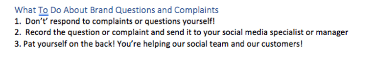 What to Do About Brand Questions and Complaints