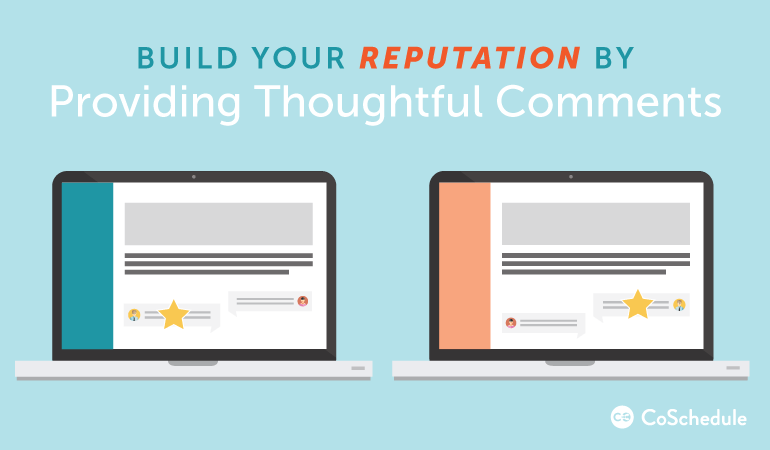 build your reputation with blog comments