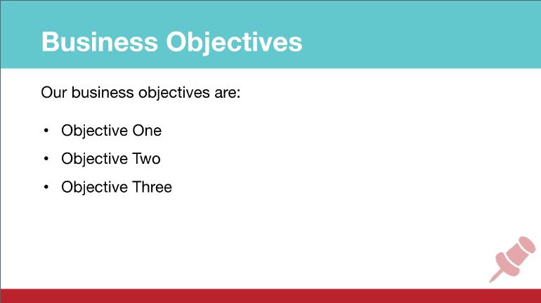 Pinterest Marketing Strategy: Objectives Slide