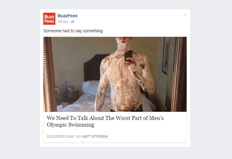 Obscured image post from Buzzfeed
