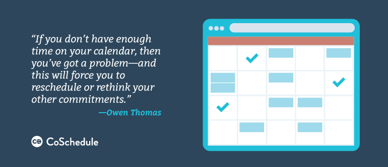 use a calendar to increase your productivity