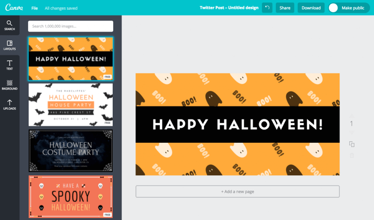 Canva is a useful tool for creating great graphics.