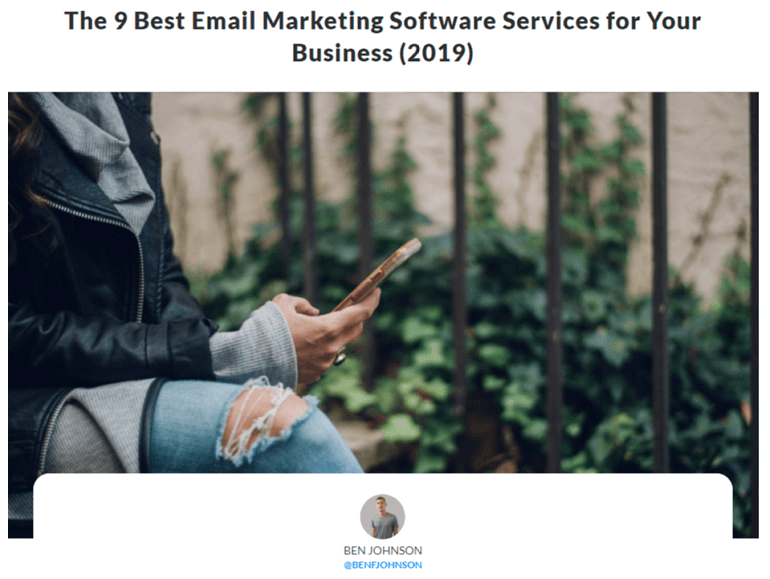 Article on The 9 Best Email Marketing Software Services for Your Business (2019) screenshot