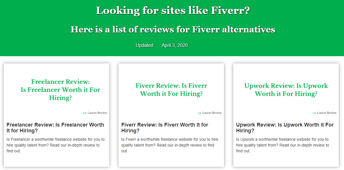Recommendations for sites that are similar to Fiverr