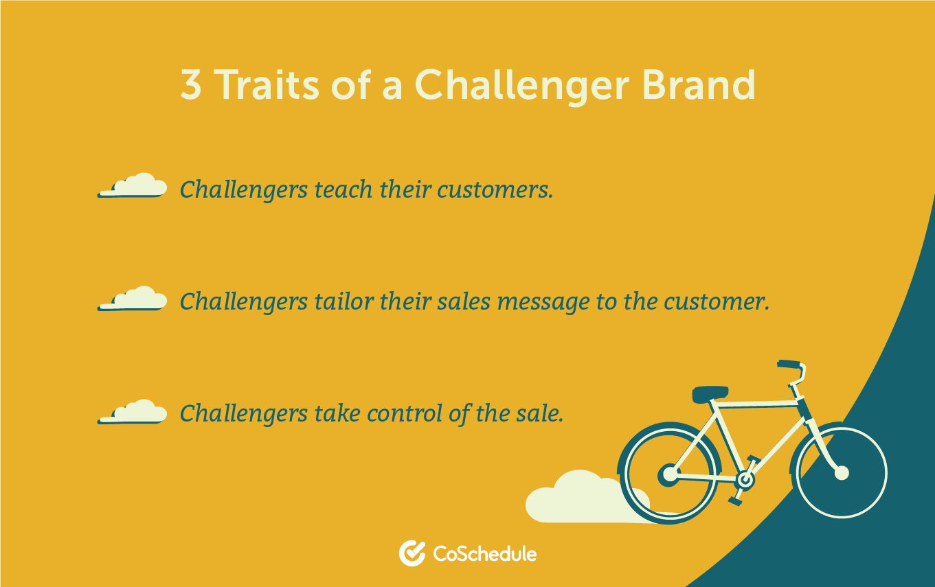 3 different traits to a challenger brand