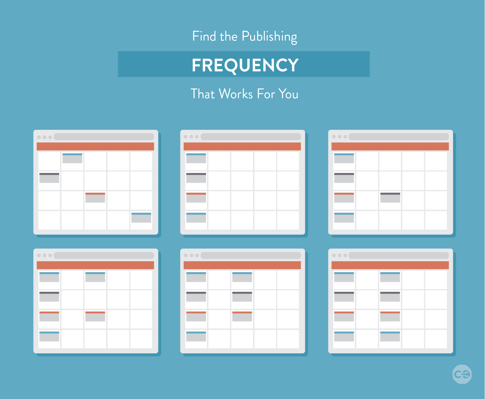 find your publishing frequency for your content marketing editorial calendar