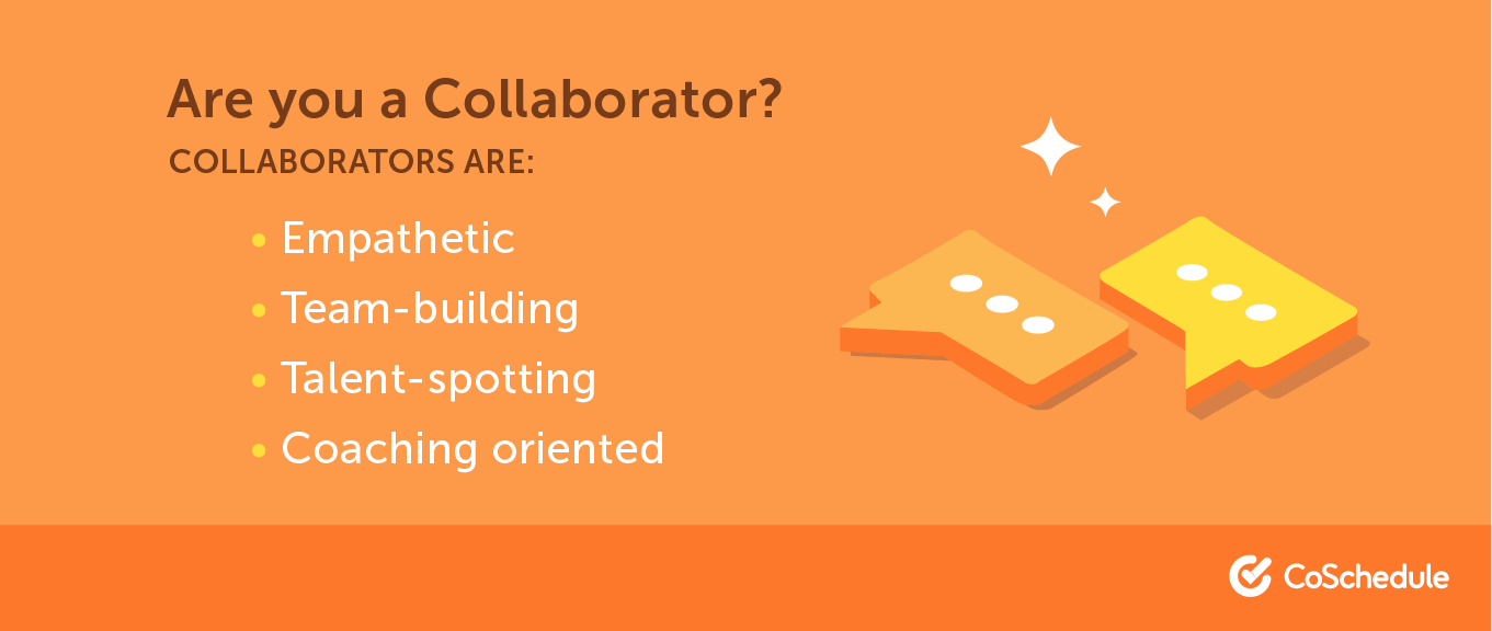 A list of traits that make up a collaborator
