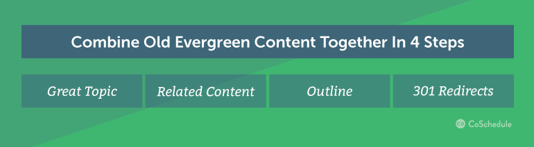 How to Combine Old Evergreen Content Pieces