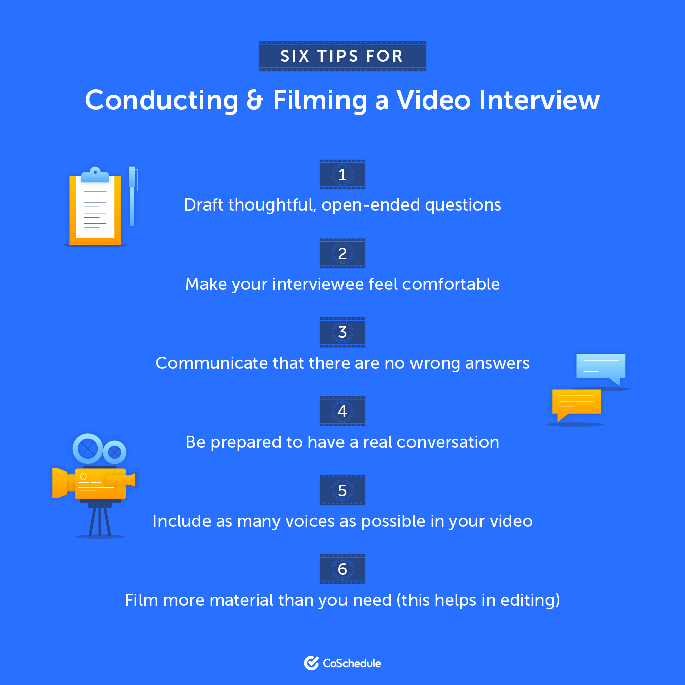 Six tips for conducting and filming a video interview