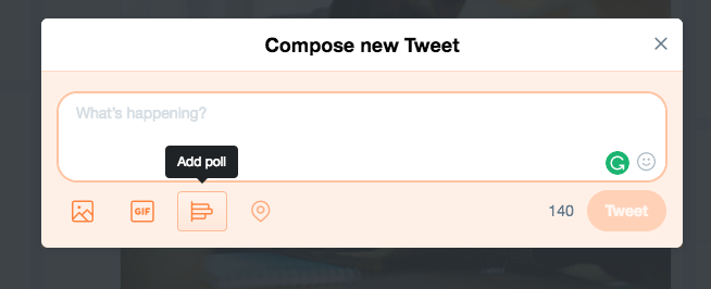 Compose a new Twitter poll