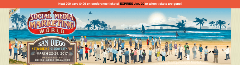 Example of a conference signup page
