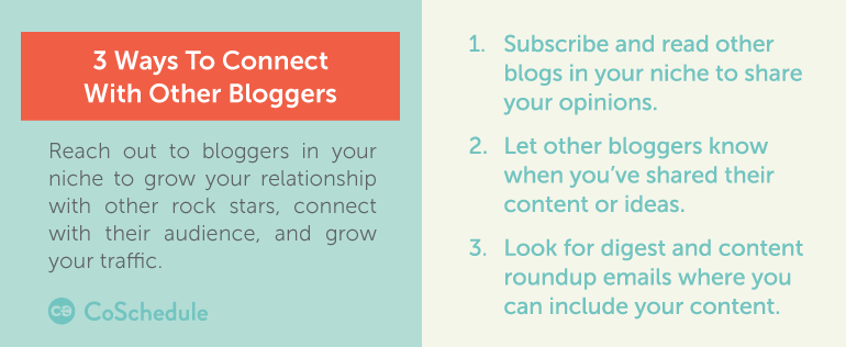 3 ways to connect with other bloggers (as part of your content marketing promotion strategy)