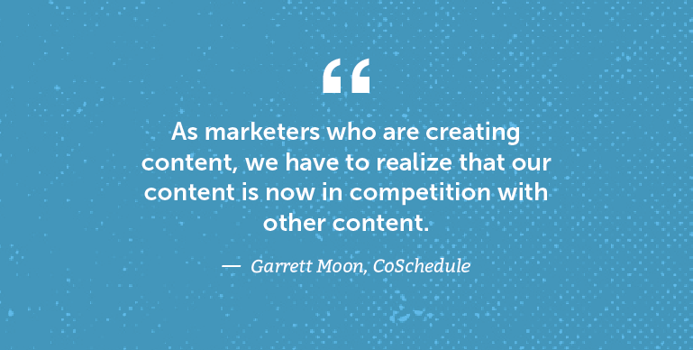 As marketers who are creating content ...