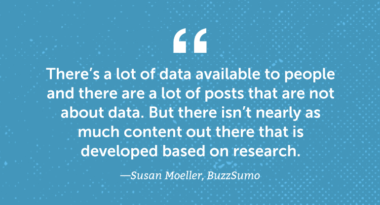 There's a lot of data available to people and there are a lot of posts that are not about data.