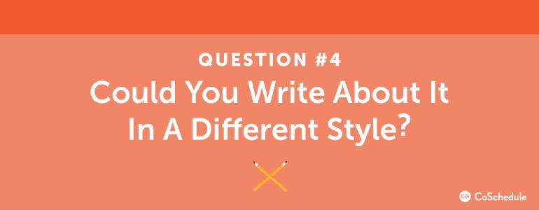 content ideas question four